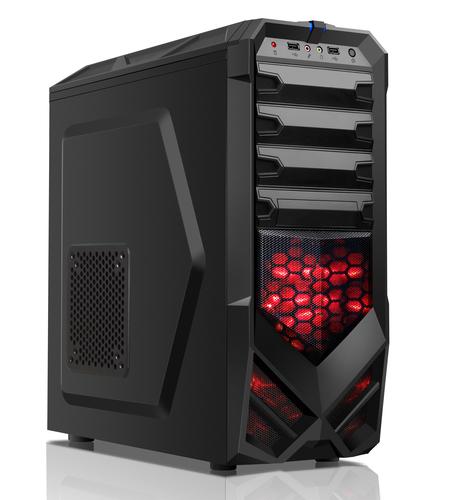 ITEK CASE ZEERO - GAMING MIDDLE TOWER, USB3, 12CM RED FAN, 0. 65MM
