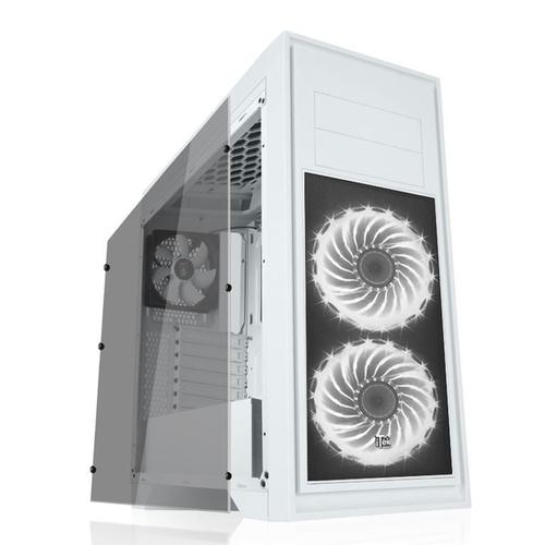 ITEK CASE TITAN 05 ADVANCED WHITE - GAMING MIDDLE TOWER, 2XUSB3, 3X12CM FAN (2XRGB), HDD KIT, TRASP WIND XL, FAN CONTROL, 0.7MM