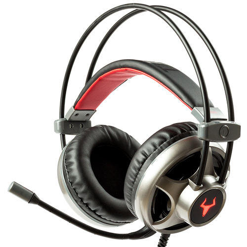 ITEK CUFFIE GAMING TAURUS H322 - LED  ROSSO, MICROFONO REGOLABILE,  CONTROLLO VOLUME, JACK 3,5MM