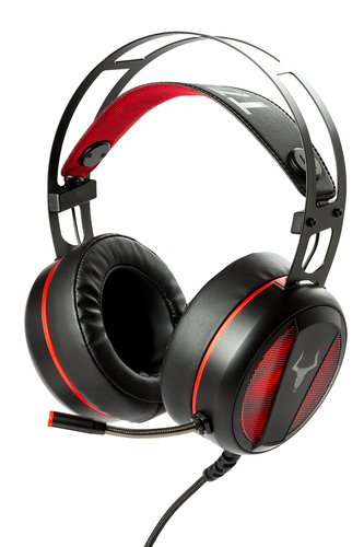 ITEK CUFFIE GAMING TAURUS H800 - 7. 1CH VIRTUALE, LED ROSSO, MICROFONO  REGOLABILE, CONTROLLO VOLUME, USB  PLUG, COMP PS4