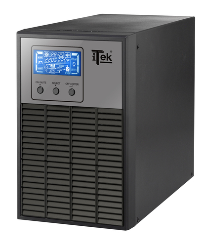ITEK UPS WINPOWER 1000 - 1000VA/800W, ON LINE, 2 BATT, LCD, 3XSHUCKO, AVR, RS232, USB
