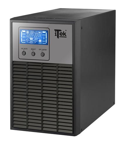 ITEK UPS WINPOWER 1000 - 1000VA/800W, ON LINE, 2 BATT, LCD, 3XSHUCKO, AVR, RS232, USB