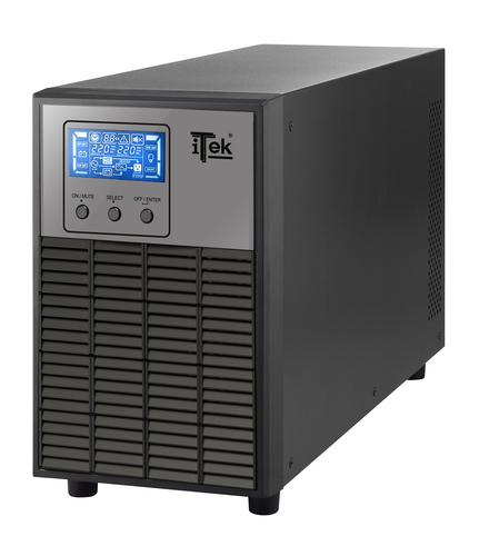 ITEK UPS WINPOWER 2000 - 2000VA/1600W, ON LINE, 4 BATT, LCD, 3XSHUCKO, AVR, RS232, USB