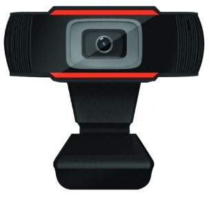 MACHPOWER WEBCAM USB HD 720P 1MP SMART MEETING, MICROFONO INCORPORATO, NERO