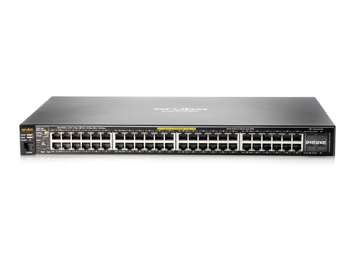 HPE SWITCH MANAGED 2530-48G-POE+ 48 PORTE GIGA + 4 SLOT SFP LAYER 2 RACK MOUNTABLE