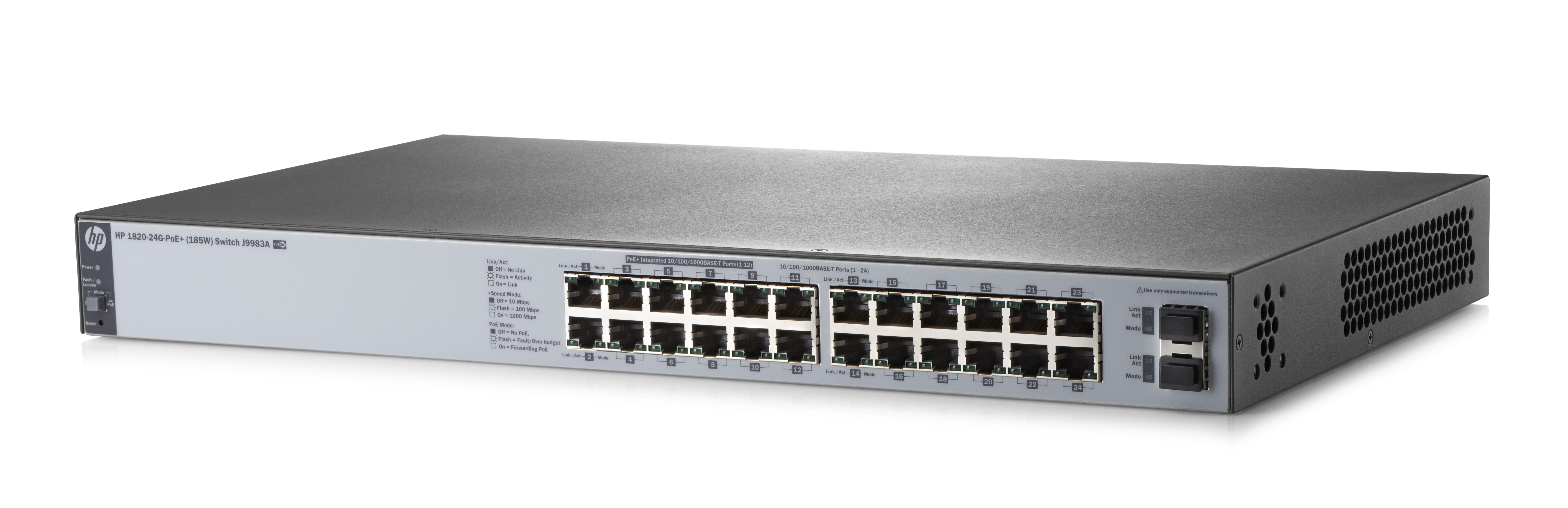 HPE SWITCH 1820-24G  30W 24 P. LAN RJ-45 10/100/1000 MBPS