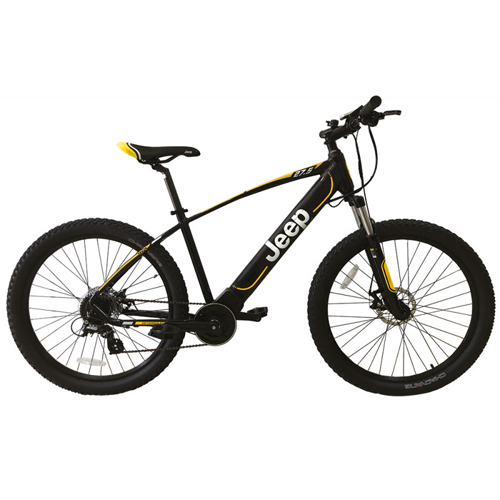JEEP BICICLETTA CON PEDALATA ASSISTITA MOUNTAIN BIKE NERO RUOTE 27.5