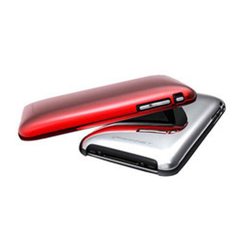 KONNET SHINE CASE METALLICO IPHONE 2IN1PACK SILVER+RED KN-5017