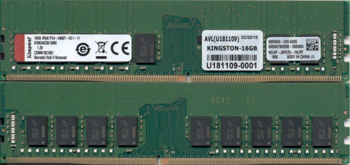 KINGSTON RAM 16GB DIMM DDR4 2400MHZ