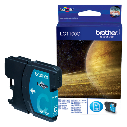BROTHER CARTUCCIA LC1100C INKJET CIANO DA 325 PAGINE