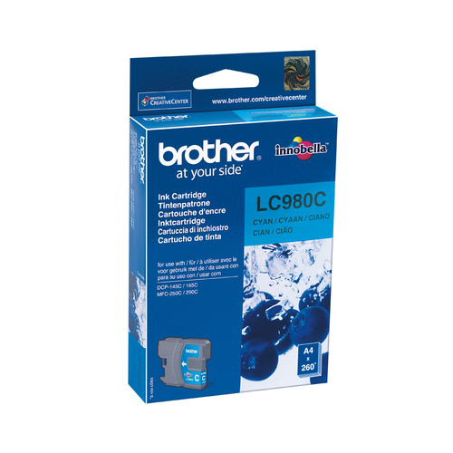 BROTHER CARTUCCIA LC980C INKJET CIANO DA 260 PAGINE