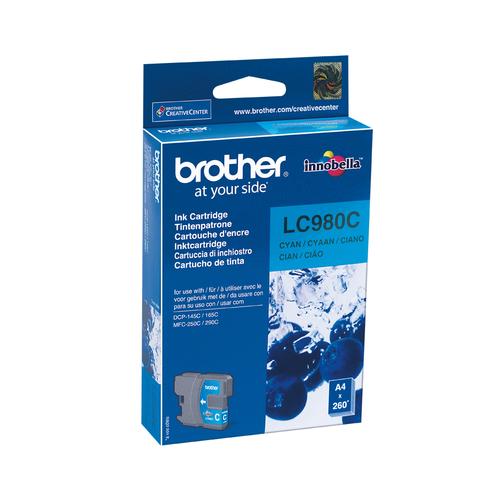 BROTHER CARTUCCIA LC980C INKJET CIANO DA 260 PAGINE