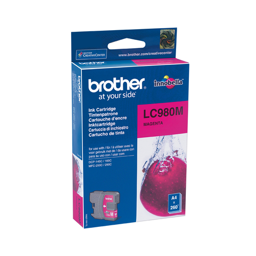 BROTHER CARTUCCIA LC980M INKJET MAGENTA DA 260 PAGINE