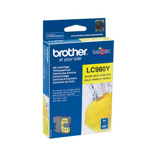 BROTHER CARTUCCIA LC980Y INKJET GIALLO DA 260 PAGINE