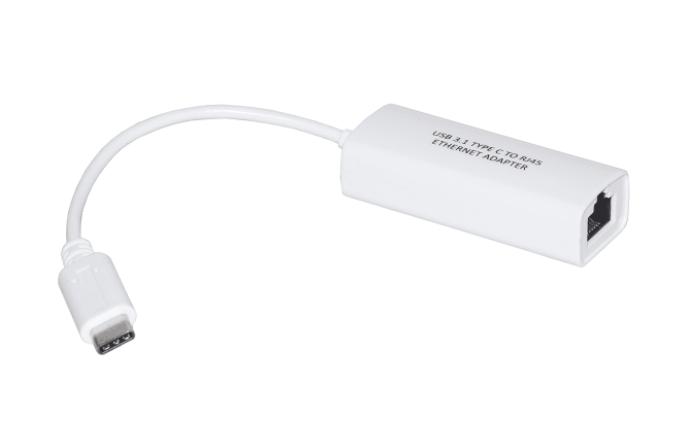 LINK ADATTATORE USB TIPO C MASCHIO CONNETTORE RJ45 FEMMINA PER RETI10/100