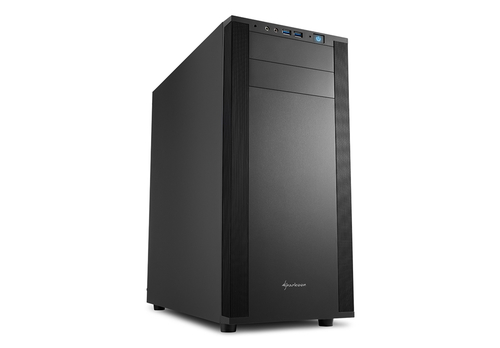 SHARKOON CASE M25-V ATX, USB 3.0 + AUDIO FRONTALE, METAL BLACK