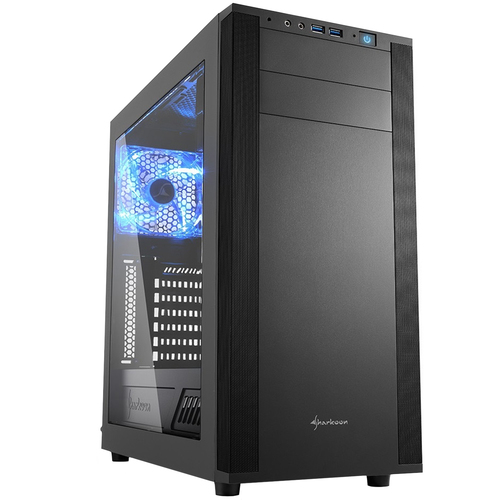 SHARKOON CASE M25-W ATX, 7 SLOT, USB 3.0 + AUDIO FRONTALI, COLORE NERO