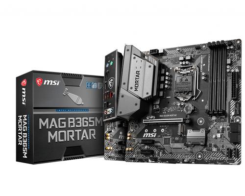 MSI MB MAG B365M MORTAR LGA 1151 4DDR4 1PCI-Ex16 2PCI-EX1 6SATA3 MATX, COFFEE LAKE