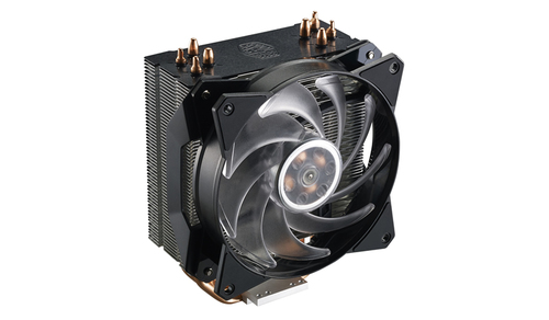 COOLER MASTER VENTOLA MASTERAIR MA410P, TOWER,120*25MM PWM RGB FAN,650-2000RPM, 4X HP, SMALL RGB LED CONTROLLER