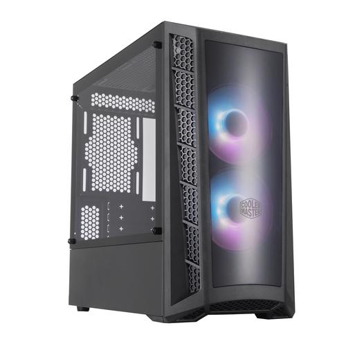 COOLER MASTER CASE MASTERBOX MB320L MINI-TOWER ATX, 4 SLOT ESPANSIONE, 2XUSB 3.2, 1X3.5MM JACK AUDIO, 2X120MM ARGB FAN FRONT, ARGB