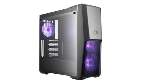 COOLER MASTER CASE MASTERBOX MB500 MID TOWER ATX, USB3X2, AUDIO IO, 2X 3.5/2X 2.5