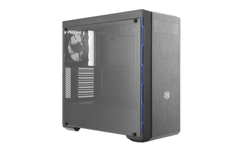 COOLER MASTER MASTERBOX MB600L MIDTOWER ATX, 2XUSB2.0, AUDIO IN/OUT, 7 BAY (1XSSD), 1X 120 REAR FAN, BLACK/BLUE