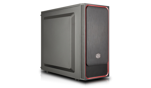 COOLER MASTER CASE MASTERBOX E500L MID TOWER ATX, RED, STEEL SIDE PANEL, USB3X2, AUDIOIO, 1X 5,25
