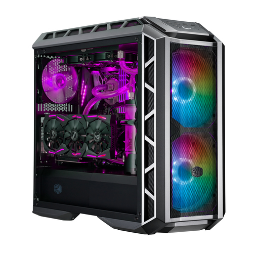 COOLER MASTER CASE H500P MESH ARGB MID TOWER, SIDE PANEL, MICROATX-MINI ITX, 2XUSB 3.2, 2XUSB 2.0, 1X3.5MM AUDIO JACK, 1X3.5MM MIC JACK, 1XARGB CONTROLLER, 1XARGB 2-TO-3 SPLITTER, 2X200MM ARGB FAN FRONT, 1X140MM ARGB FAN REAR, NERO