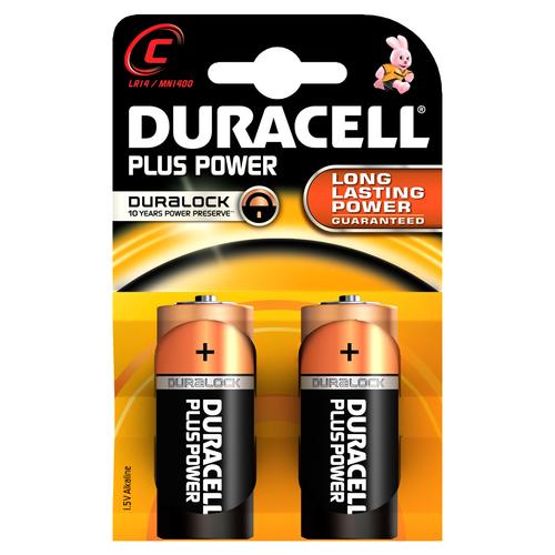DURACELL PILE ALCALINE TIPO C 1,5V PLUS POWER CONFEZIONE DA 2