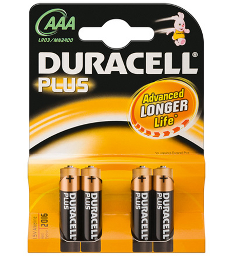 DURACELL BATTERIA PLUS POWER ALCALINA AAA 1,5V NON RICARICABILE
