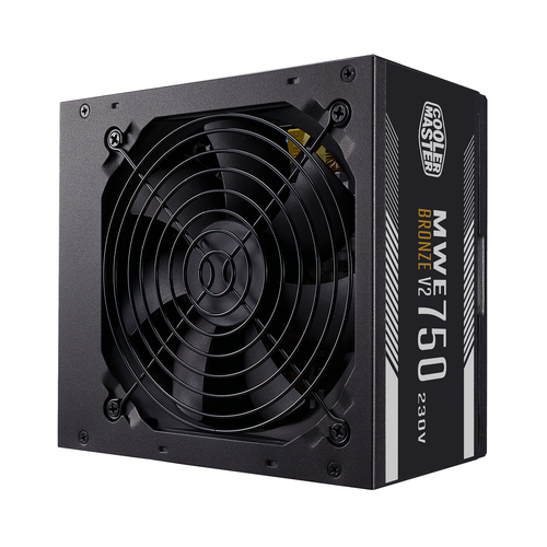 COOLER MASTER ALIMENTATORE MWE 750W V2 230V 80PLUS BRONZE ATX 120MM FAN ACTIVE, NON MODULARE