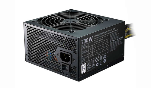 COOLER MASTER MASTERWATT LITE 700W, 230V, 80PLUS WHITE, 120MM FAN, ACTIVE PFC, ES CABLE