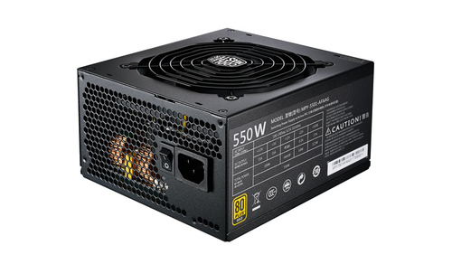 COOLER MASTER ALIMENTATORE MWE GOLD 550W - 80PLUS GOLD, ACTIVE PFC, 120MM FAN FULL MODULAR