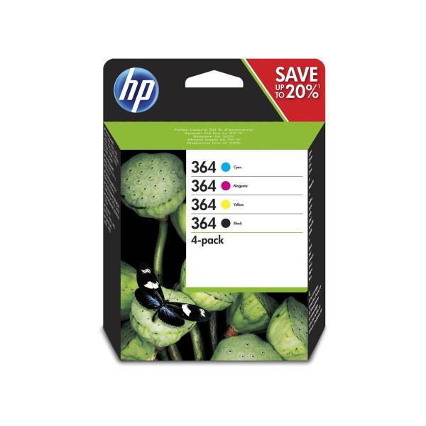 HP CART. INK MULTICOLOR (BK + C + M + Y) N.364