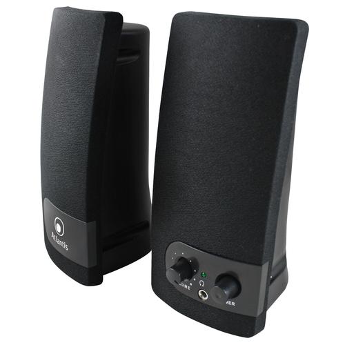 ATLANTIS SPEAKER SOUNDPOWER 280 ALIMENTAZIONE USB STEREO AMPLIFICATORE INTEGRATO REGOLATORE VOLUME E COLORE NERO