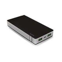 CELLY POWER BANK CON CAPACITA DI 10000MAH, 2X USB DA 2,4A E 1A, CAVO MICROUSB NERO