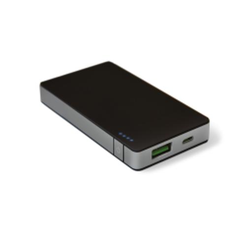 CELLY POWER BANK CON CAPACITA DI 4000MAH, 1X USB DA 1,5A, CAVO MICRO USB, NERO/SILVER