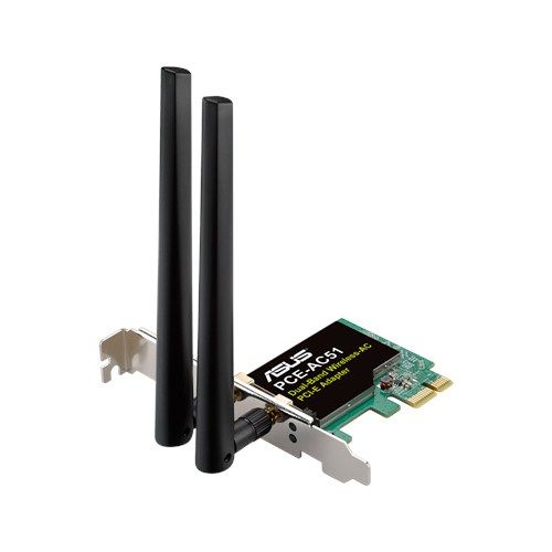 ASUS SCHEDA DI RETE PCIE WIRELESS AC750 DUAL BAND 2 ANTENNE ESTERNE
