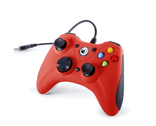 NACON CONTROLLER WIRED PER PC CON PULSANTE HOME COMPATIBILE CON TUTTI I GIOCHI PER PC E CON WINDOWS XP/VISTA/7/8/10 - RED