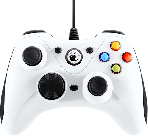 NACON CONTROLLER WIRED PER PC CON PULSANTE HOME COMPATIBILE CON TUTTI I GIOCHI PER PC E CON WINDOWS XP/VISTA/7/8/10 - WHITE