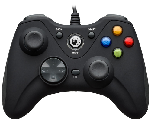 NACON CONTROLLER WIRED PER PC CON PULSANTE HOME COMPATIBILE CON TUTTI I GIOCHI PER PC E CON WINDOWS XP/VISTA/7/8/10 - BLACK