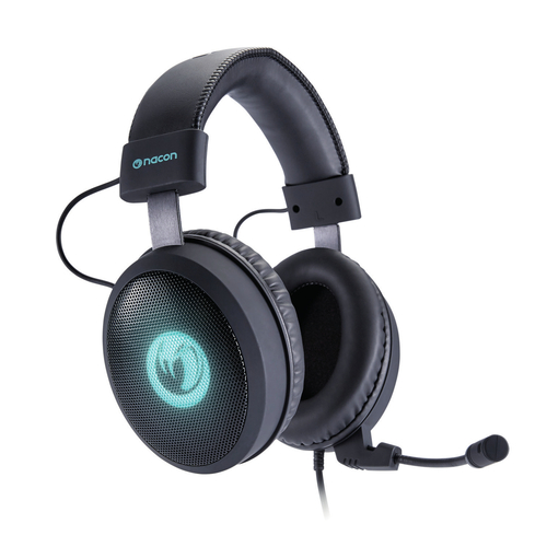 NACON CUFFIE HEADSET GAMING CON MICROFONO REMOVIBILE, USB 2,5MT, LOGO LUMINOSO, PC-PS4