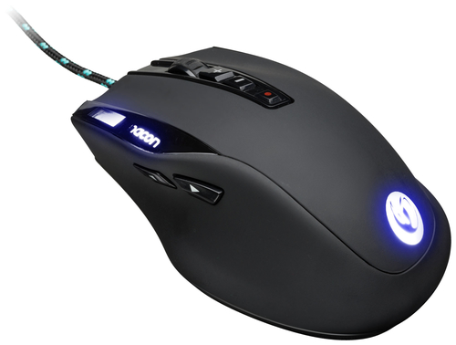 NACON MOUSE GAMING LASER FINO A 6000 DPI CON DISPLAY LCD, USB 1,8MT, 10 TASTI