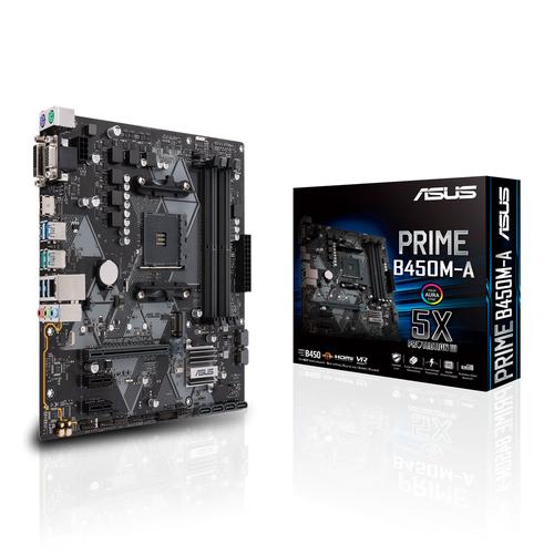 ASUS MB PRIME B450M-K MATX DVI VGA HDMI