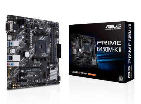 ASUS MB AMD PRIME B450M-K II, AM4 DDR4, M2, HDMI