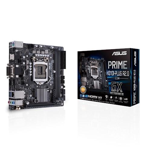ASUS MB PRIME H310I-PLUS R2.0/CSM, LGA1151, M.2 MINI ITX , COFFEE LAKE