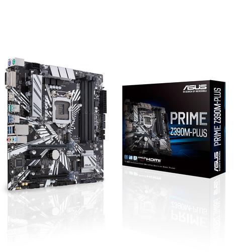 ASUS MB PRIME Z390M-PLUS LGA 1151 4*DDR4 PCI-EX/16 SATA3 USB3.1 MATX