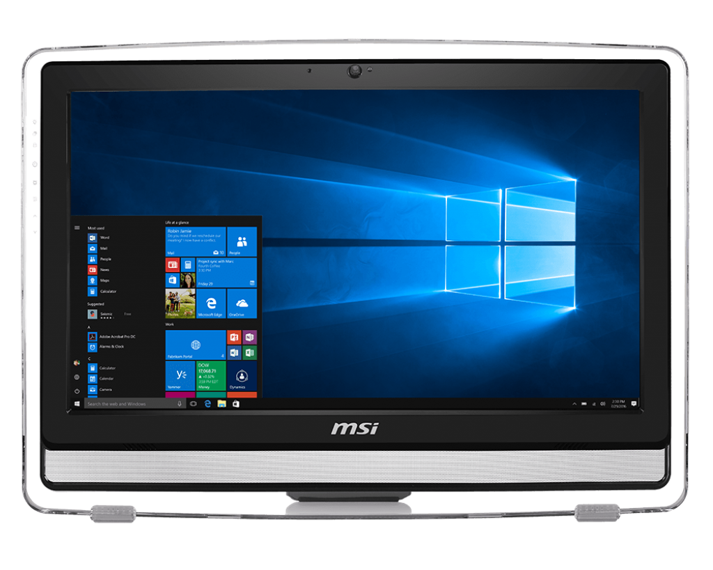 MSI PC AIO PRO 22ET 7M-203 G4560 8GB 1TB 21,5 FHD TOUCH DVD-RW WIN 10 HOME