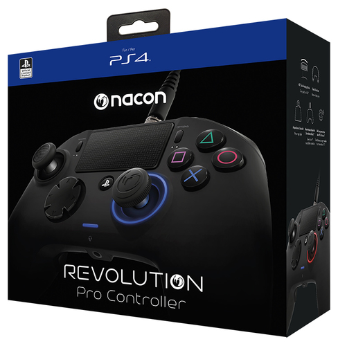 NACON CONTROLLER PRO REVOLUTION BLACK CON CAVO PER PLAYSTATION 4 (PC COMPATIBILE)