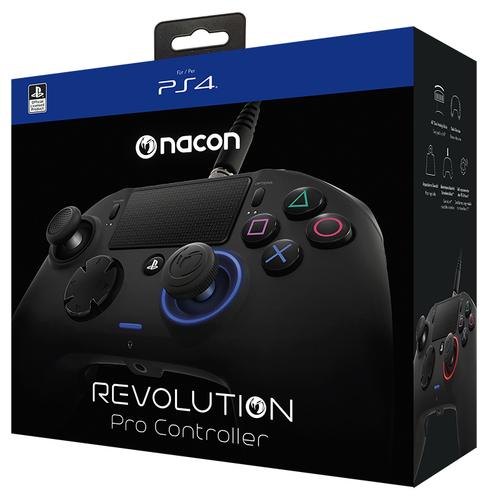NACON CONTROLLER PRO REVOLUTION BLACK CON CAVO PER PLAYSTATION 4 (PC COMPATIBILE)